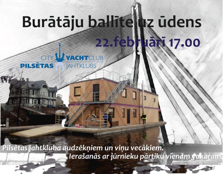 Jaunās jahtkluba ēkas atklāšana ar burātāju ballīti uz ūdens – 22. februārī 17.00!